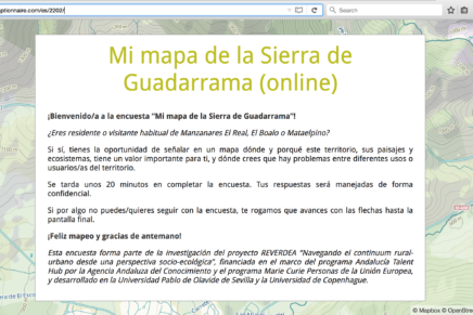 Participatory mapping of landuses and landuse conflicts in the Sierra de Guadarrama